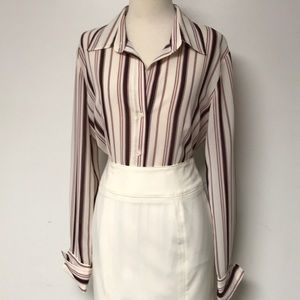 """""""New York & Co"""" Striped Button Down Top"""
